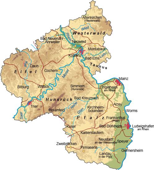 """rheinland pfalz karte Wir machen die Karten""""   Rheinland Pfalz für Powerpoint"""